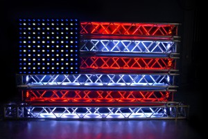 american flag built out of truss by Trusst